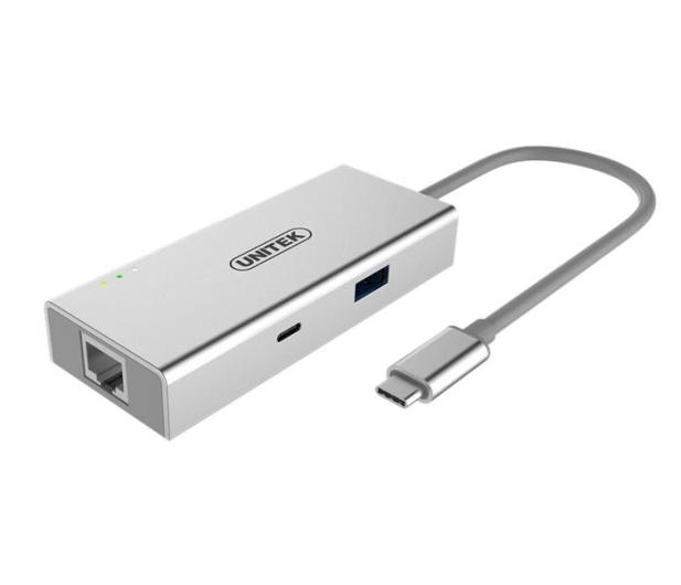 Unitek Adapter USB-C - HDMI, USB 3.0, USB-C, RJ-45 - 410492 - zdjęcie