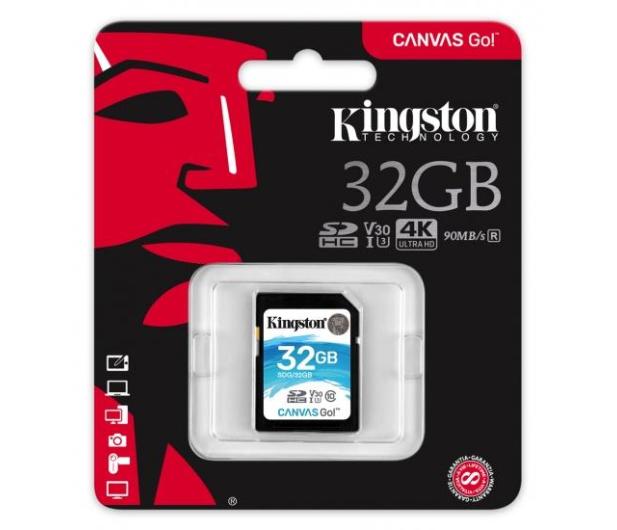 Kingston 32GB SDHC Canvas Go! 90MB/s C10 UHS-I U3  - 410717 - zdjęcie 3