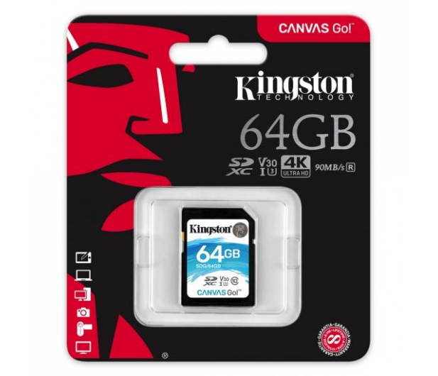Kingston 64GB SDXC Canvas Go! 90MB/s C10 UHS-I U3  - 410718 - zdjęcie 3