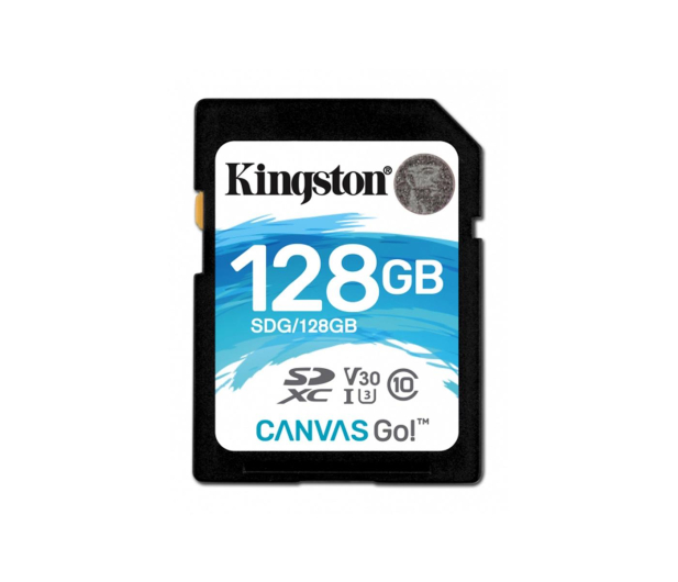 Kingston 128GB SDXC Canvas Go! 90MB/s C10 UHS-I U3  - 410720 - zdjęcie