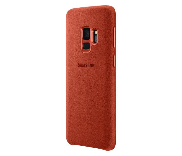 Samsung Alcantara Cover do Galaxy S9 Red - 405912 - zdjęcie