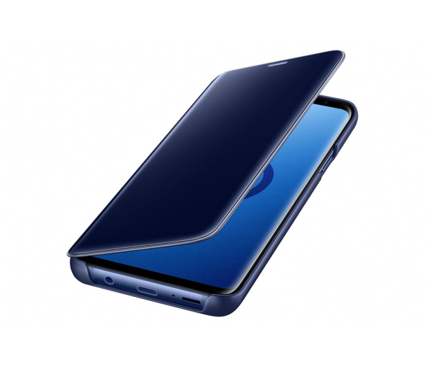 Samsung Clear View Standing Cover do Galaxy S9+ Blue - 405925 - zdjęcie