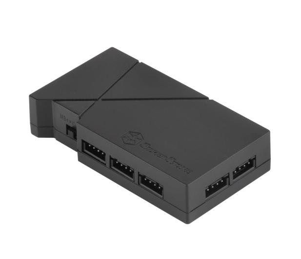 SilverStone RGB-LED-Hub + 2xLED czarny - 406463 - zdjęcie