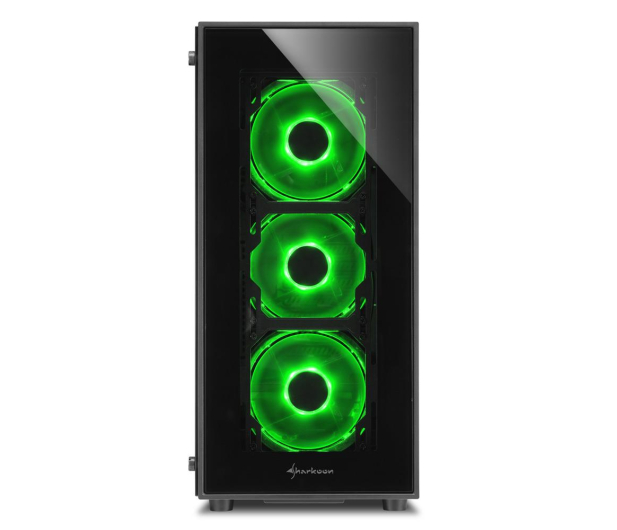 Sharkoon TG5 Glass Green - 407490 - zdjęcie 2