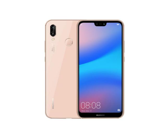 Huawei P20 Lite Dual SIM 64GB Różowy  - 414754 - zdjęcie