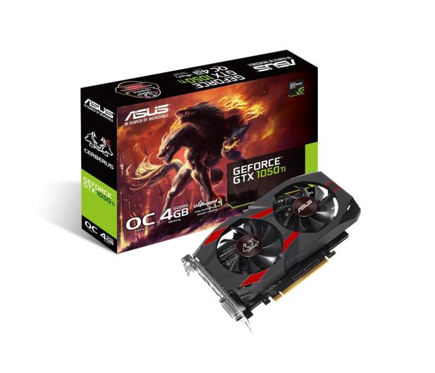 ASUS GeForce GTX 1050 Ti Cerberus OC 4GB GDDR5 - 415313 - zdjęcie 1