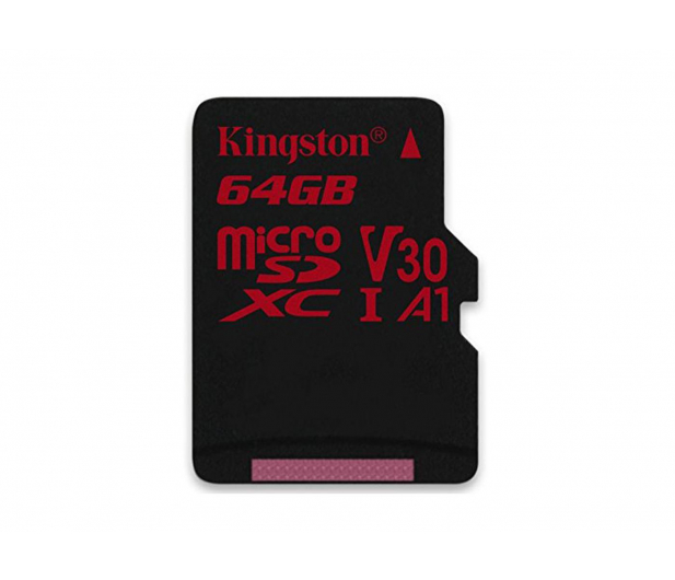 Kingston 64GB microSDXC Canvas React 100MB/s UHS-I V30 A1 - 415520 - zdjęcie