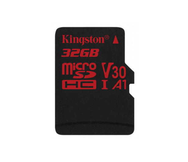 Kingston 32GB microSDHC Canvas React 100MB/s UHS-I V30 A1 - 415518 - zdjęcie 1