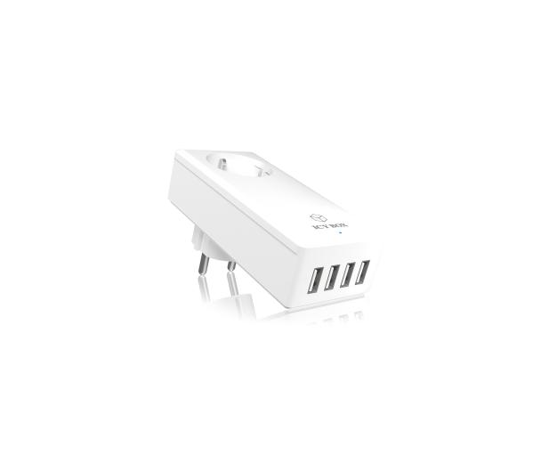 ICY BOX Ładowarka sieciowa 4 x USB 5A + gniazdo - 414599 - zdjęcie 3