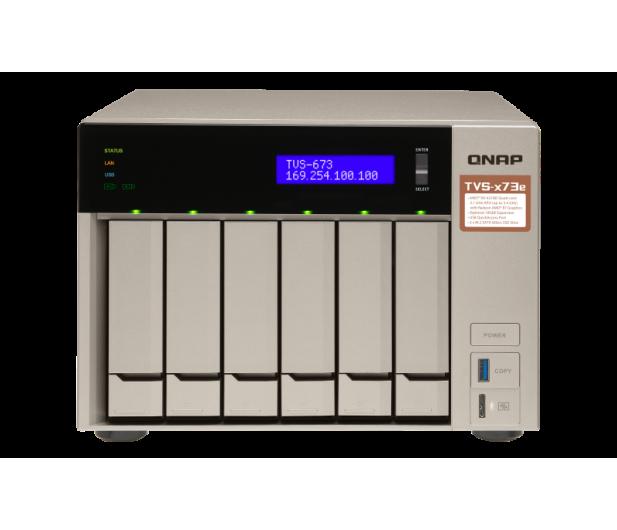 QNAP TVS-673e-4G(6xHDD, 4x2.1-3.4GHz, 4GB,4xUSB,4xLAN) - 416900 - zdjęcie 2