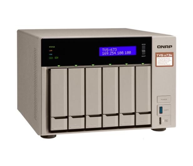 QNAP TVS-673e-4G(6xHDD, 4x2.1-3.4GHz, 4GB,4xUSB,4xLAN) - 416900 - zdjęcie