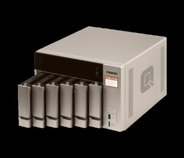 QNAP TVS-673e-4G(6xHDD, 4x2.1-3.4GHz, 4GB,4xUSB,4xLAN) - 416900 - zdjęcie 4