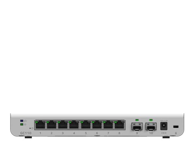Netgear 10p GC110 Smart Cloud (8x10/100/1000Mbit 2xSFP) - 409495 - zdjęcie