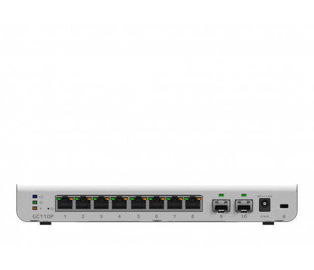 Netgear 10p GC110P Smart Cloud (8x100/1000Mbit 2xSFP) PoE - 409497 - zdjęcie