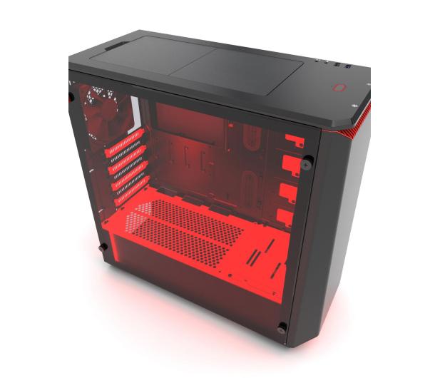 Phanteks Eclipse P400S Tempered Glass (czarny/czerwony) - 411811 - zdjęcie 4