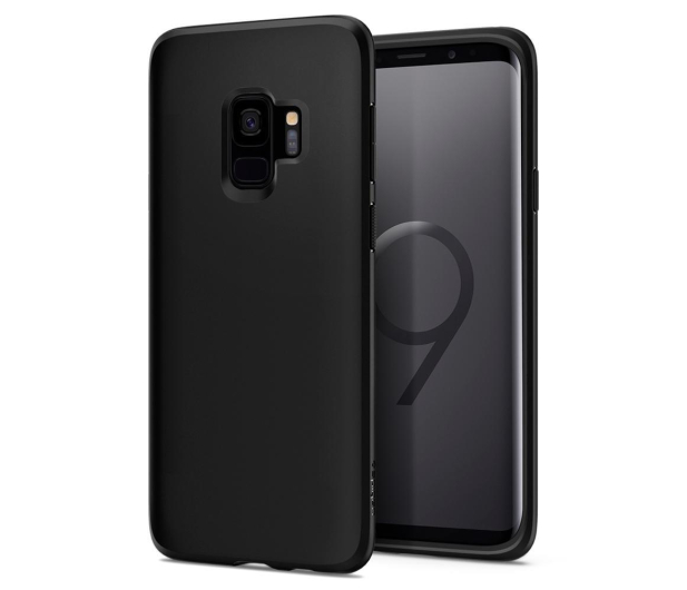 Spigen Liquid Crystal do Galaxy S9 Matte Black - 417813 - zdjęcie