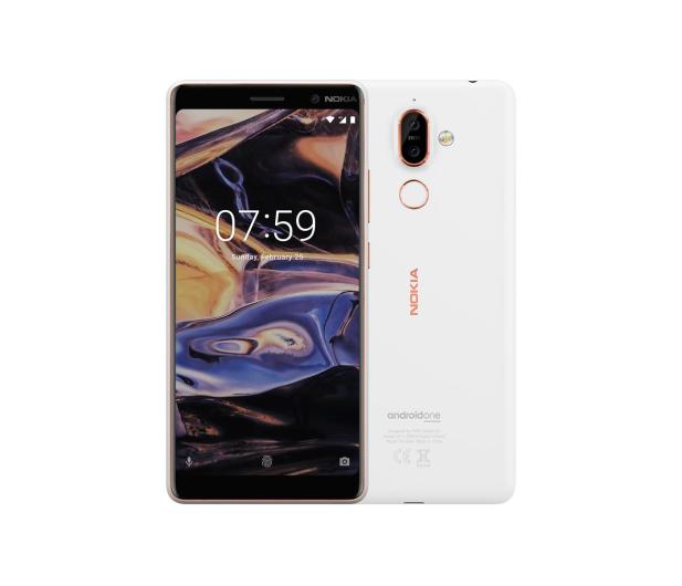 Nokia 7 Plus Dual SIM biało-miedziany  - 424505 - zdjęcie