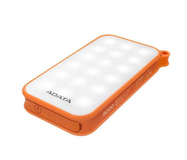 ADATA Power Bank D8000 2.1A LED pomarańczowy - 424720 - zdjęcie
