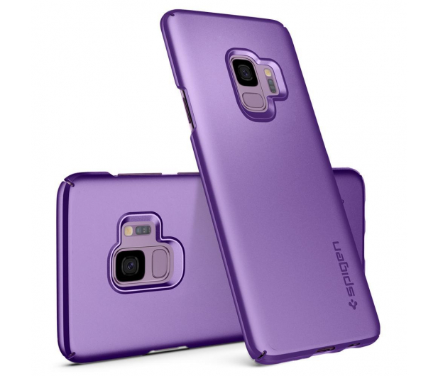 Spigen Thin Fit do Galaxy S9 Lilac Purple  - 424826 - zdjęcie 2