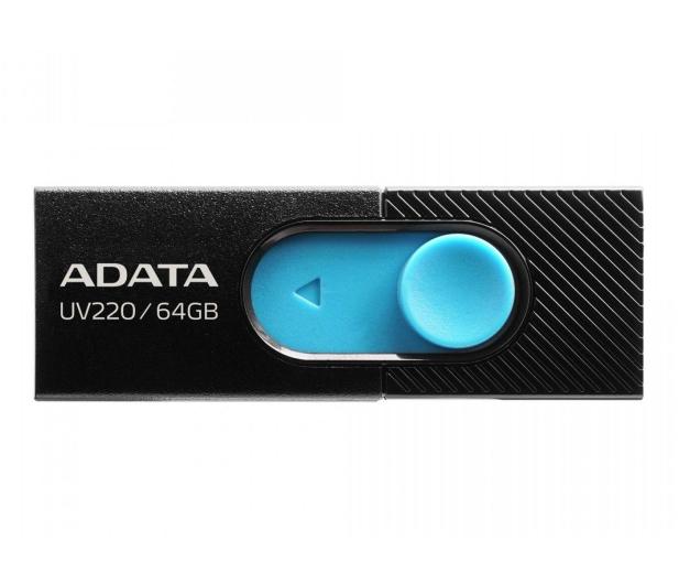 ADATA 64GB UV220 czarno-niebieski  - 425749 - zdjęcie