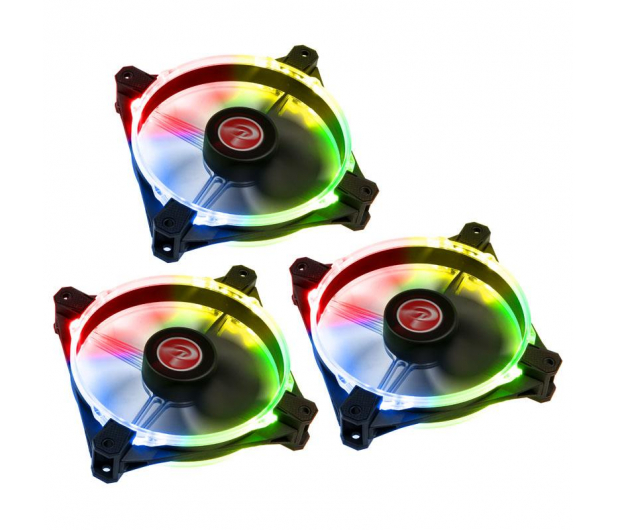 Raijintek Macula 12 Rainbow LED RGB 120mm (3set)  - 424066 - zdjęcie
