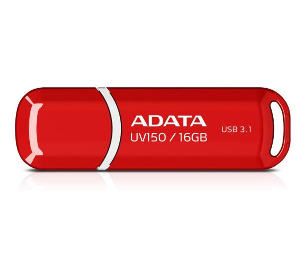 ADATA 16GB DashDrive UV150 czerwony (USB 3.1) - 425776 - zdjęcie