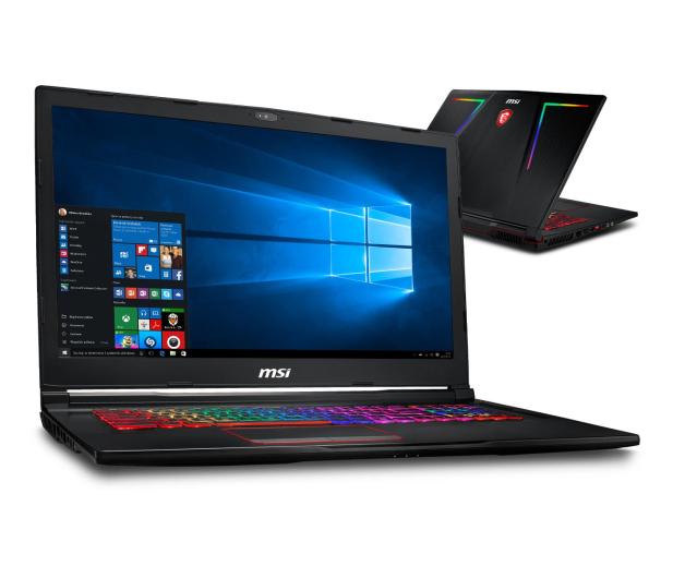 MSI GE73 i7-8750H/8GB/1TB+128/Win10 GTX1060 120Hz  - 422275 - zdjęcie