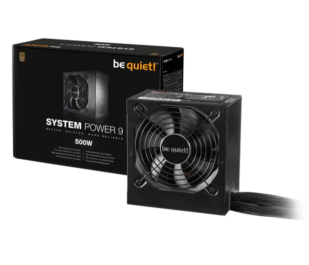 be quiet! System Power 9 500W 80 Plus Bronze - 423078 - zdjęcie