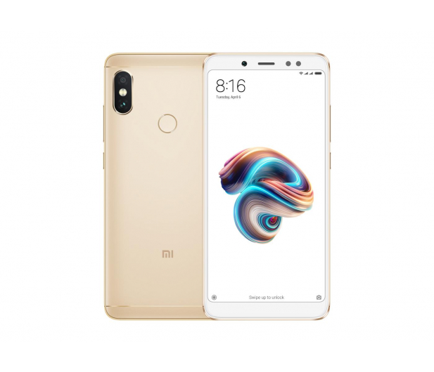Xiaomi Redmi Note 5 3/32GB Gold - 428385 - zdjęcie 1