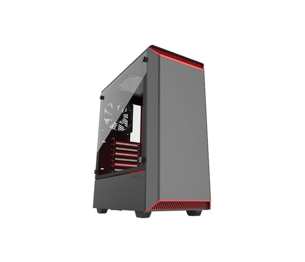 Phanteks Eclipse P300 Tempered Glass czerwony/czarny - 428337 - zdjęcie