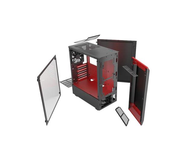 Phanteks Eclipse P300 Tempered Glass czerwony/czarny - 428337 - zdjęcie 6