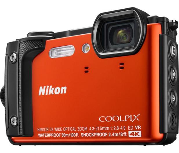 Nikon Coolpix W300 pomarańczowy Holiday Kit  - 427220 - zdjęcie