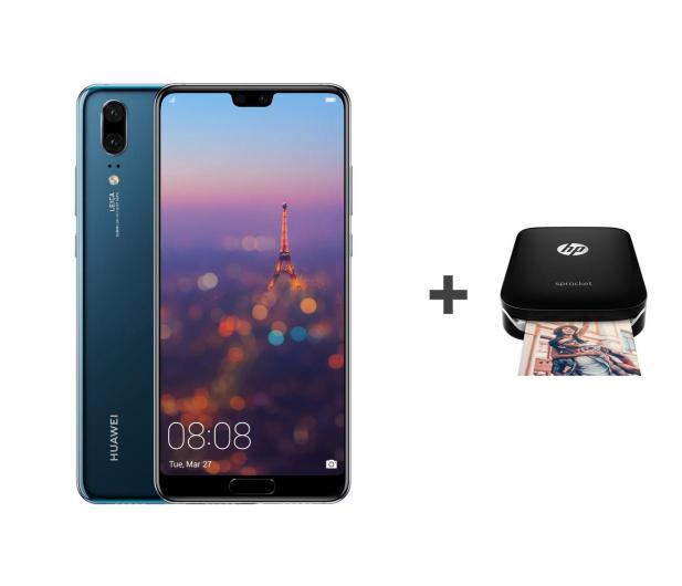 Huawei P20 Dual SIM 128GB Niebieski + HP Sprocket - 431750 - zdjęcie 1