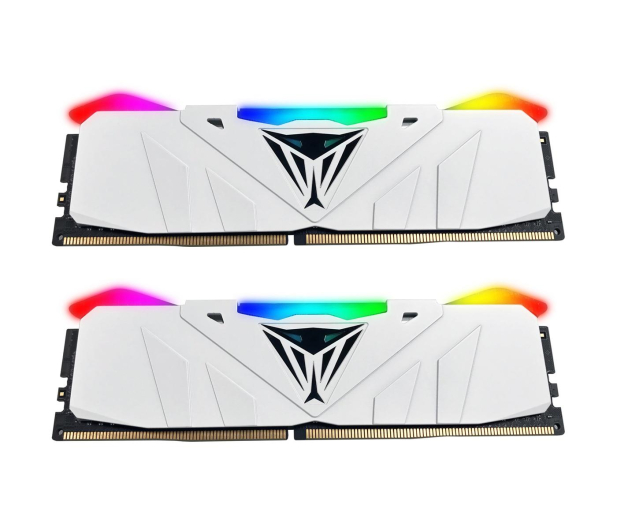 Patriot 16GB (2x8GB) 3200MHz CL16 Viper RGB LED White - 432101 - zdjęcie