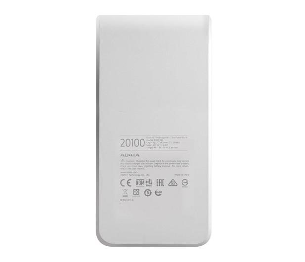 ADATA Power Bank P20100 20100 mAh 2.1A (biało-niebieski) - 426259 - zdjęcie 5