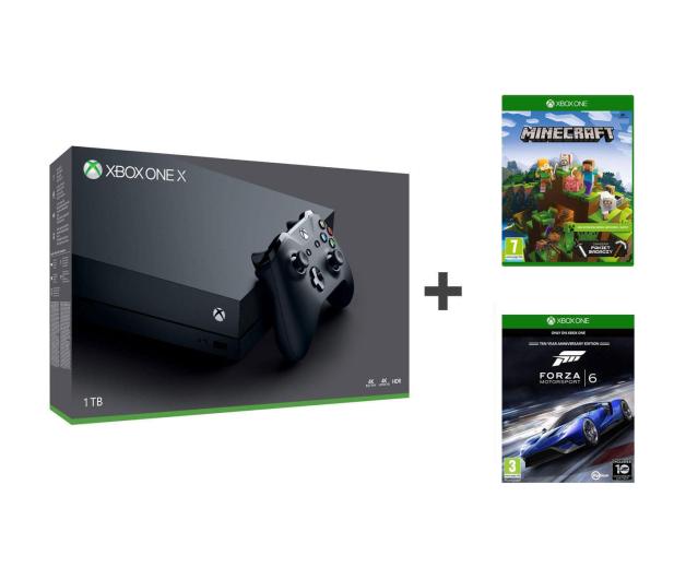 Microsoft Xbox One X 1TB + Minecraft Ex + Forza Motorsport 6 - 424076 - zdjęcie