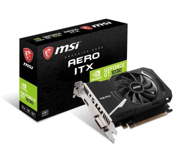 MSI GeForce GT 1030 AERO ITX 2GD4 OC 2GB DDR4 - 428864 - zdjęcie