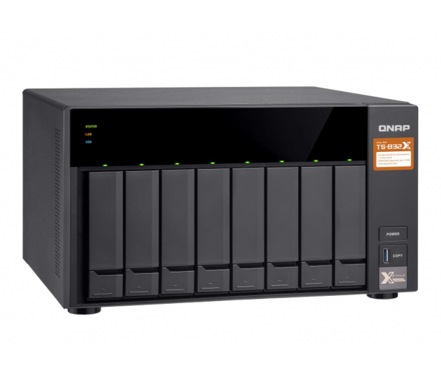 QNAP TS-832X-8G (8xHDD, 4x1.7GHz, 8GB, 3xUSB, 4xLAN) - 434176 - zdjęcie