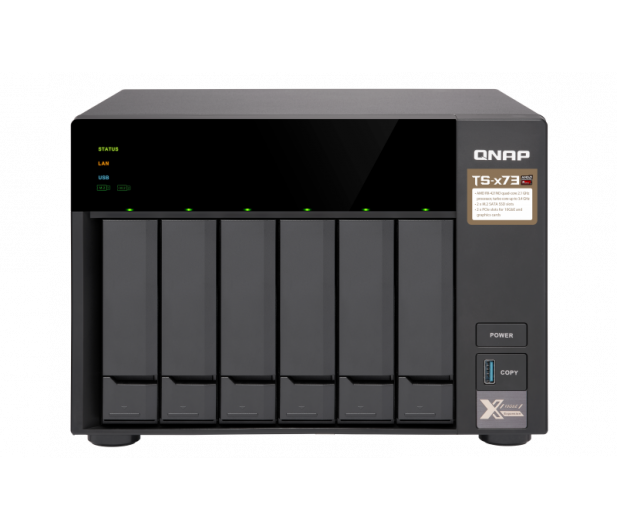 QNAP TS-673-8G (6xHDD, 4x2.1-3.4GHz,8GB,4xUSB,4xLAN)  - 434210 - zdjęcie 2