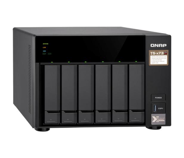 QNAP TS-673-8G (6xHDD, 4x2.1-3.4GHz,8GB,4xUSB,4xLAN)  - 434210 - zdjęcie