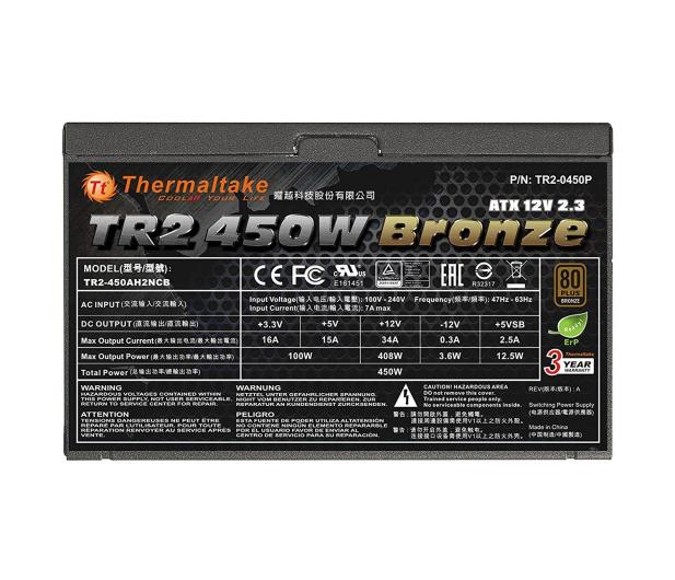 Thermaltake 450W TR2 80+ Bronze OEM - 402352 - zdjęcie 3