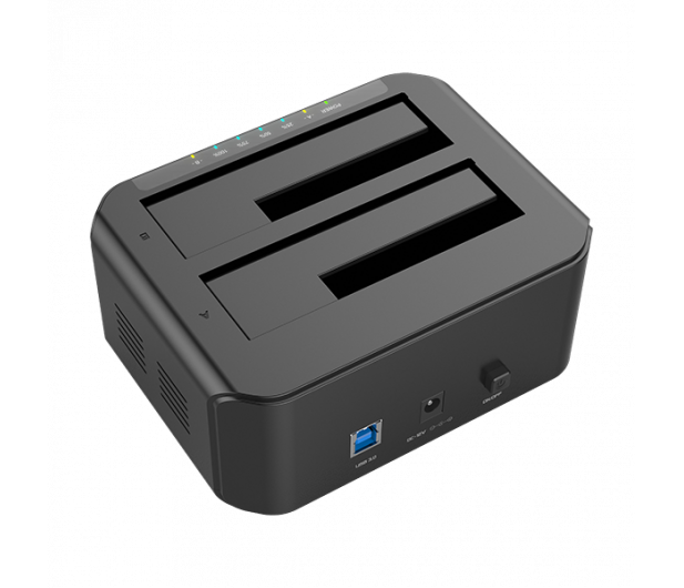 Unitek Stacja dokująca 2 x HDD USB 3.0 z klonowaniem - 434810 - zdjęcie 4