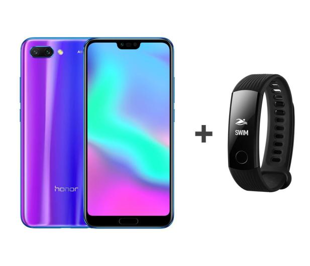 Honor 10 LTE Dual SIM 128 GB niebieski + Smartband - 436645 - zdjęcie
