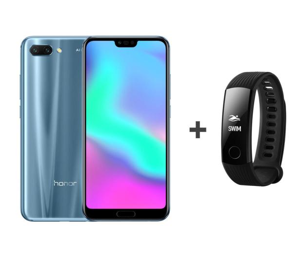 Honor 10 LTE Dual SIM 128 GB szary + Smartband - 436646 - zdjęcie