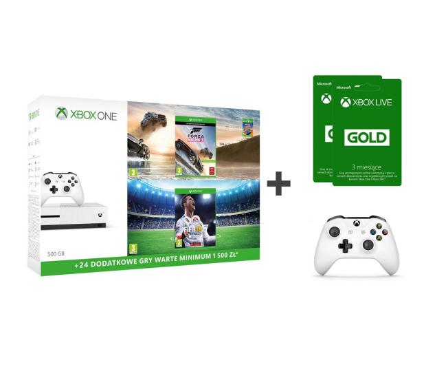 Microsoft Xbox ONE S 500GB+Horizon 3+Pad+FIFA 18+ GOLD 6M - 387057 - zdjęcie