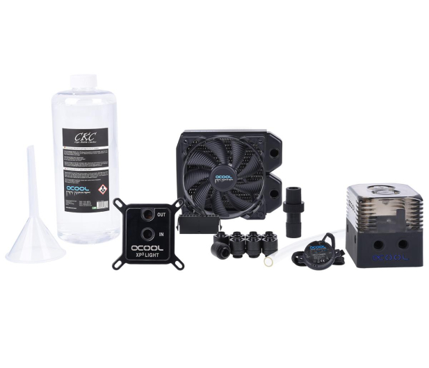 Alphacool Eissturm Gaming Copper 30 1x120mm - complete kit - 422857 - zdjęcie