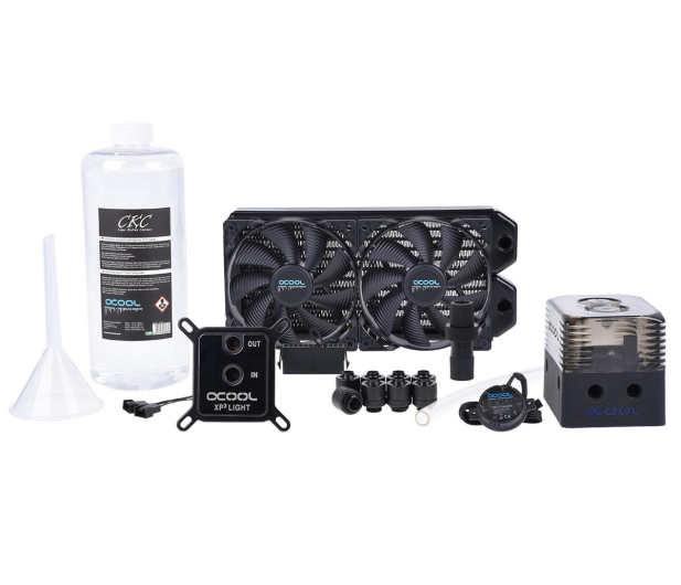 Alphacool Eissturm Gaming Copper 30 2x120mm - complete kit - 422854 - zdjęcie