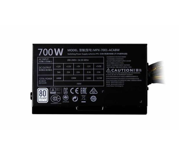 Cooler Master Masterwatt Lite 700W 80 Plus - 437902 - zdjęcie 4
