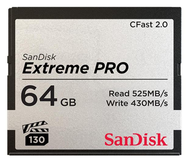 SanDisk 64GB Extreme PRO CFAST 2.0 525MB/s VPG130 - 439563 - zdjęcie