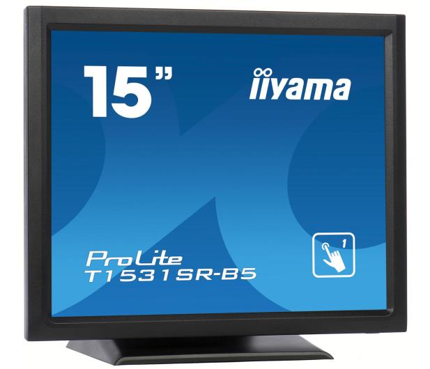 iiyama T1531SR-B5 dotykowy czarny  - 440234 - zdjęcie 3
